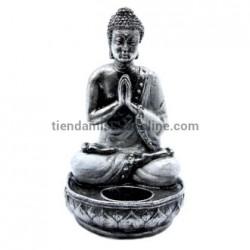 Portavelas Buda Rezando Negro