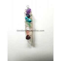 Colgante Cuarzo Cristal 7 Chakras