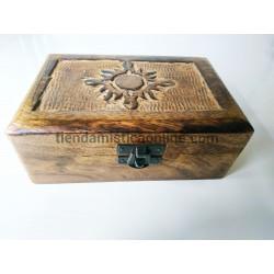Caja Ritualizada Sol Madera