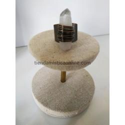 Anillo Cuarzo Cristal o Roca