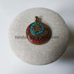 Colgante tibetano Mantra OM