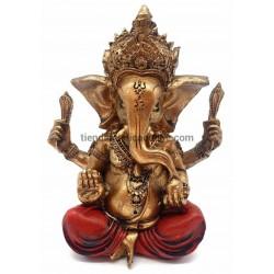 Ganesha Dorada y Rojo
