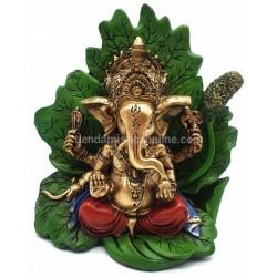 Figura Ganesha Hoja de Loto