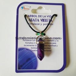 collar ágata violeta