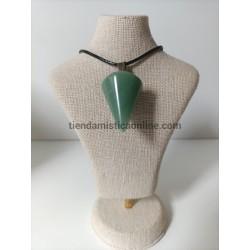 Colgante Jade Verde Péndulo