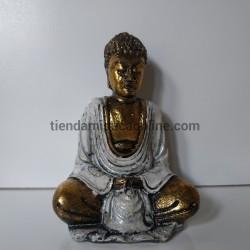 Buda Balinés Blanco y Dorado