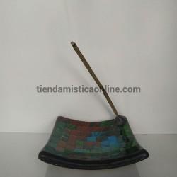 quemador de incienso mosaico artesano