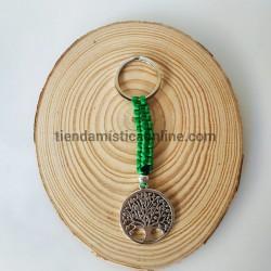 Llavero Verde Árbol de la Vida