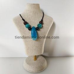 Collar de Ágata Azul