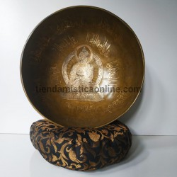 Cuenco Tibetano Buda Carving